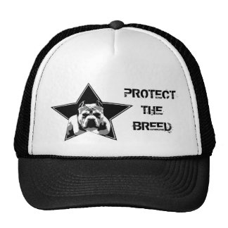 Protect The Breed Pit Bull Hat - Trucker Style Cap
