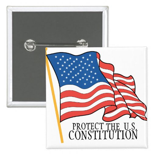 PROTECT THE CONSTITUTION 2 INCH SQUARE BUTTON