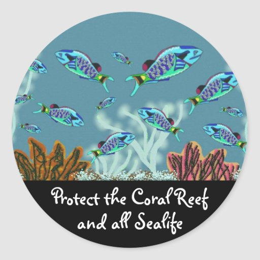 Protect the Coral Reef Stickers