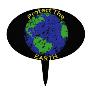 Protect the Earth Cake Toppers