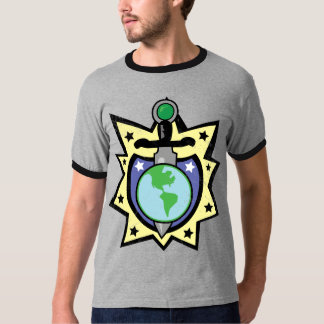Protect the Earth Dagger and Shield -Full Color T-Shirt