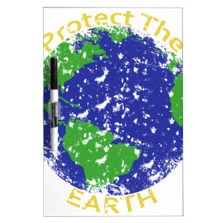 Protect the Earth Dry Erase Whiteboard