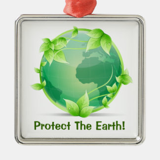 Protect The Earth Metal Ornament