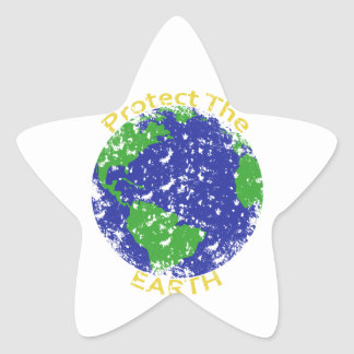 Protect the Earth Star Sticker