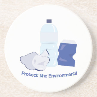 Protect The Environment Drink Coaster