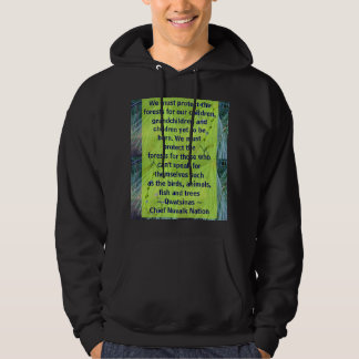 protect the forests mens hoodie