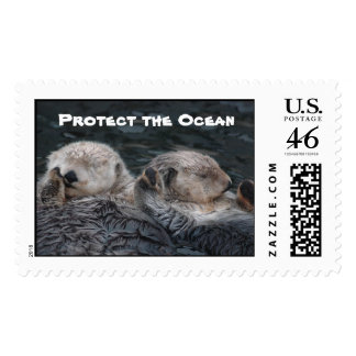 Protect the Ocean Otter Stamps