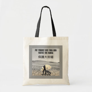 Protect The Pandas Tote Bags