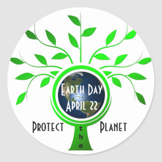 Protect the Planet Classic Round Sticker