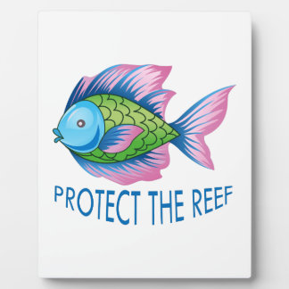 PROTECT THE REEF DISPLAY PLAQUE