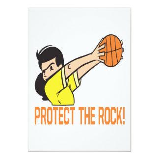 Protect The Rock 5x7 Paper Invitation Card