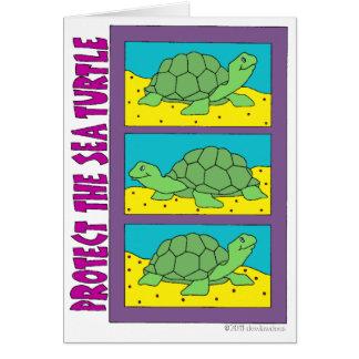 Protect The Sea Turtle Card