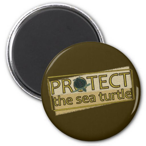 Protect the Sea Turtle Refrigerator Magnet