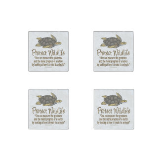 Protect the Sea Turtles Stone Magnet