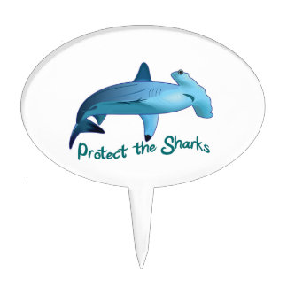 PROTECT THE SHARKS CAKE PICKS