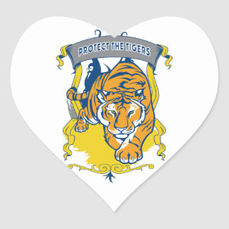 Protect the Tigers Heart Sticker