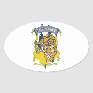 Protect the Tigers Oval Sticker