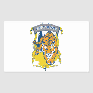 Protect the Tigers Rectangular Sticker