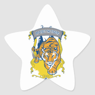 Protect the Tigers Star Sticker