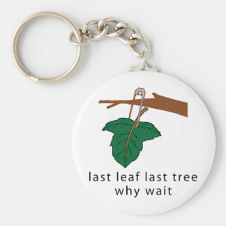Protect The Trees Basic Round Button Keychain