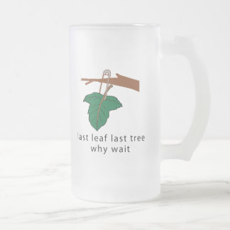 Protect The Trees Frosted Glass Beer Mug