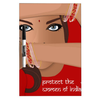 Protect the Women of India Dry Erase Whiteboards