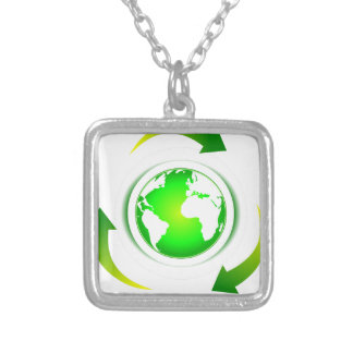 Protect the World Silver Plated Necklace
