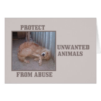 Protect Unwanted Animals Animal Notecards Card