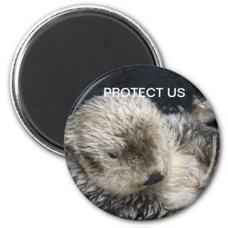 PROTECT US Otter fridge magnet