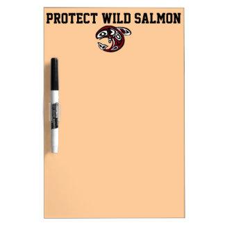 Protect Wild Salmon dry erase board