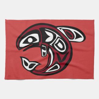 Protect Wild Salmon kitchen towel