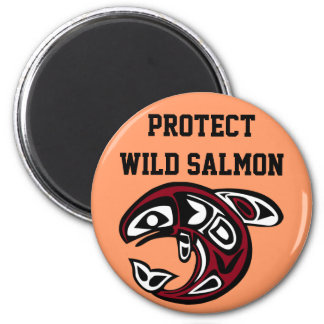 Protect Wild Salmon magnet