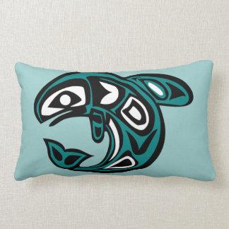 Protect Wild Salmon reversible oblong pillow