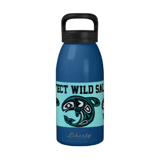 Protect Wild Salmon water bottle