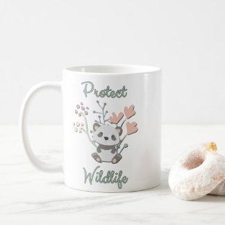 Protect Wildlife, Floral Panda Coffee Mug