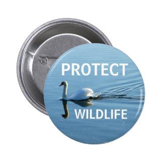 Protect Wildlife No 3 Pinback Button