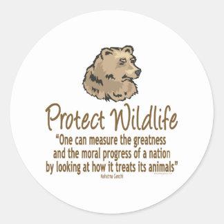 Protect Wildlife, Ursus, Bears Classic Round Sticker