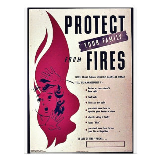 """Protect Your Family From Fires 8.5"""" X 11"""" Flyer"""