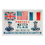 Protect Your Flag - Navy Needs You (US02143) Poster