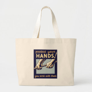 Protect Your Hands Tote Bag