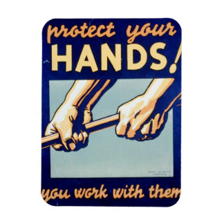 Protect Your Hands You Work With Them FAP Poster Magnet