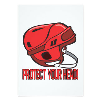Protect Your Head 5x7 Paper Invitation Card