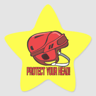 Protect Your Head Star Sticker