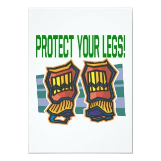 Protect Your Legs 5x7 Paper Invitation Card