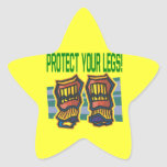 Protect Your Legs Star Sticker