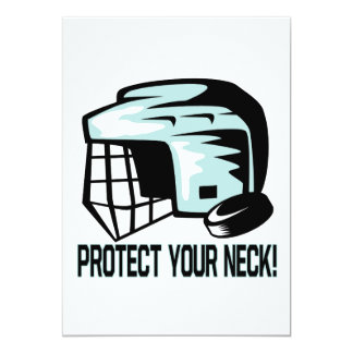 Protect Your Neck 5x7 Paper Invitation Card