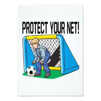 Protect Your Net 5x7 Paper Invitation Card