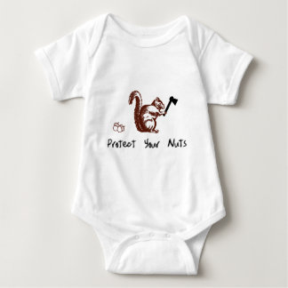 Protect Your Nuts Baby Bodysuit