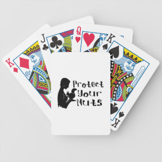Protect Your Nuts Bicycle Playing Cards