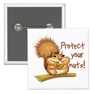 Protect Your Nuts 2 Inch Square Button